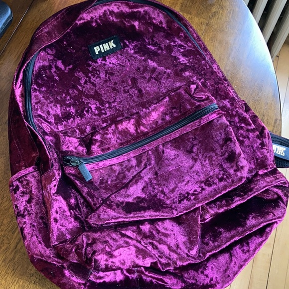 VS PINK Campus Backpack Burgundy Ruby Velvet NWOT